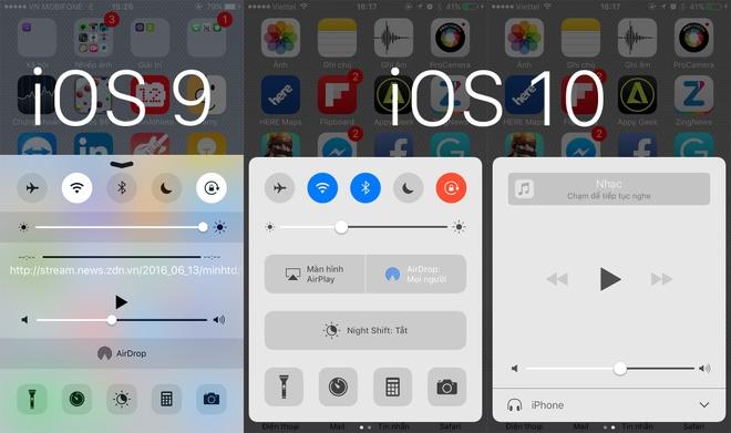 So sanh giao dien iOS 9 va iOS 10 hinh anh 2