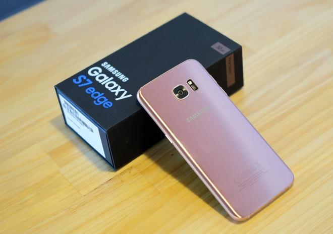 Mo hop Galaxy S7 edge mau hong chinh hang vua ban o VN hinh anh