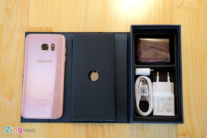 Mo hop Galaxy S7 edge mau hong chinh hang vua ban o VN hinh anh 3
