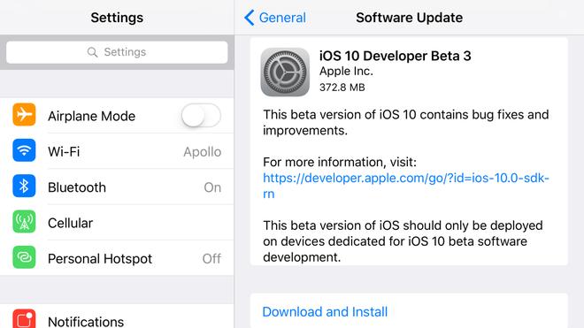 Da co iOS 10 Beta 3, tuy chon iMessage moi hinh anh 1