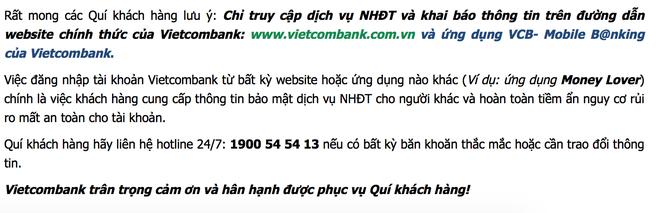 Tranh cai xung quanh canh bao bao mat cua Vietcombank hinh anh 1