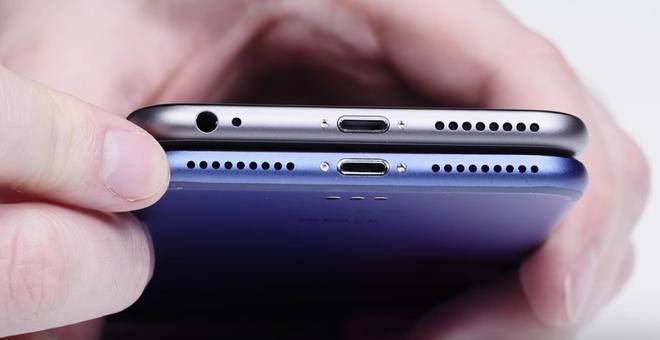 Video dau tien ve iPhone 7 Plus xanh dam hinh anh