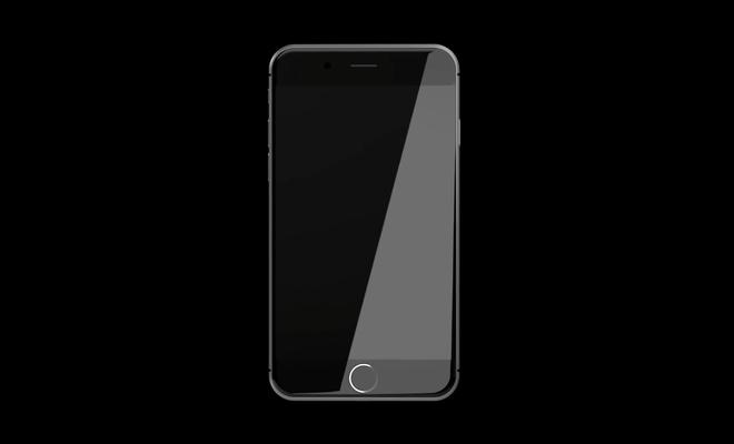 Y tuong iPhone 8 mat kinh cong, sac khong day, SIM dien tu hinh anh 1