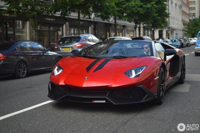 Sieu xe Lamborghini Aventador ban hiem xuat hien o London hinh anh