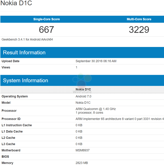 Smartphone Nokia chay Android 7, RAM 3 GB sap ra mat hinh anh 1