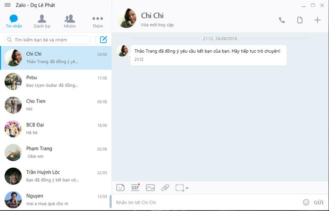 Zalo ban moi tren PC: Giao dien phang, them tinh nang moi hinh anh 1