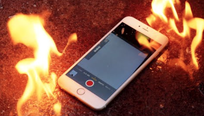 Sac iPhone qua dem, can phong thieu nu boc chay hinh anh