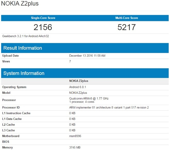 Nokia Z2 Plus co chip Snapdragon 820, RAM 4 GB lo dien hinh anh 1