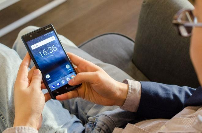 Anh thuc te Nokia 5 va Nokia 3: Khung kim loai, Android moi hinh anh 1