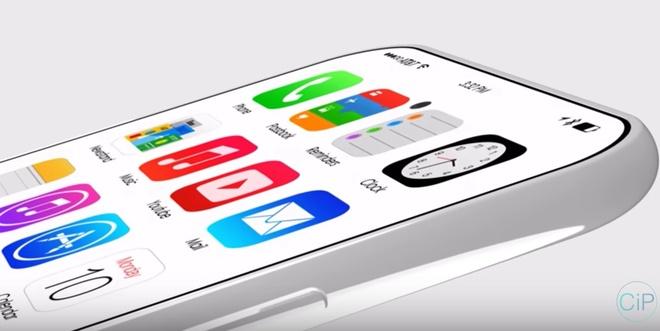 Thiet ke iPhone 8 camera kep theo chieu ngang, co ban mau trang hinh anh