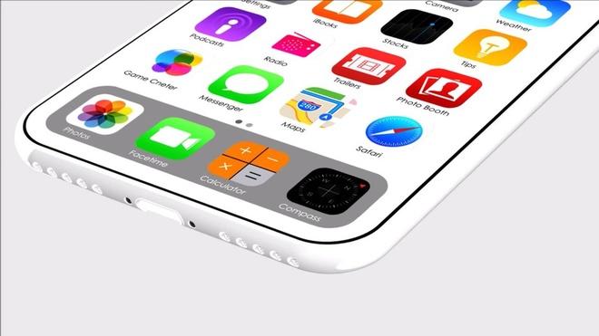 Ban thiet ke iPhone 8 mau trang giong iPhone 5C hinh anh