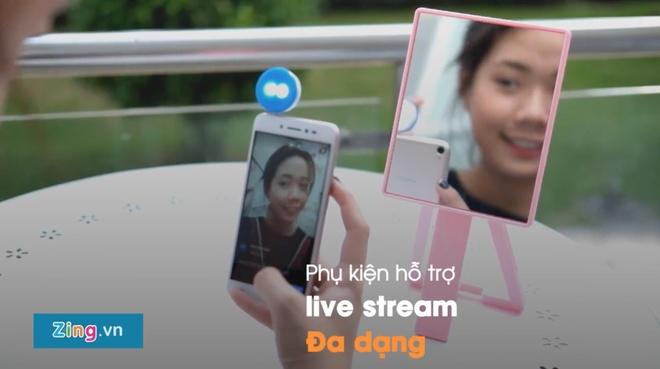 Dung thu smartphone ho tro lam dep khi live stream cua Asus hinh anh