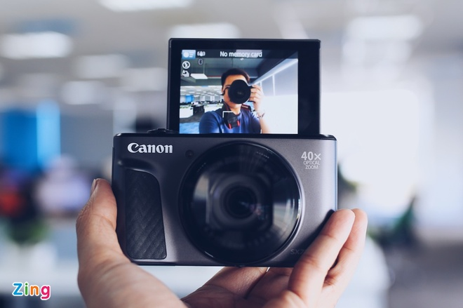 Canon SX730 HS - may anh sieu zoom lam min da khi selfie hinh anh 3