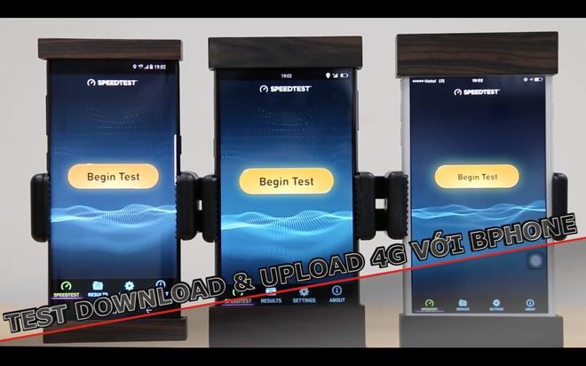 Bphone 2 do toc do ket noi 4G voi iPhone va Galaxy S8 hinh anh
