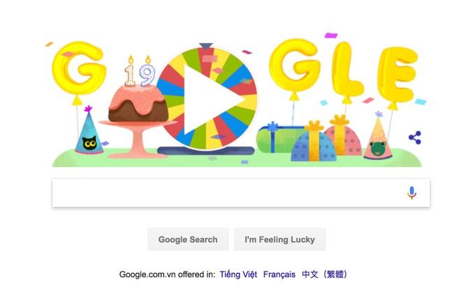 Choi game 'Vong xoay bat ngo' mung sinh nhat Google lan thu 19 hinh anh