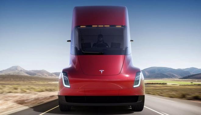 Tesla ra mat sieu xe tai chay dien, khong guong chieu hau hinh anh