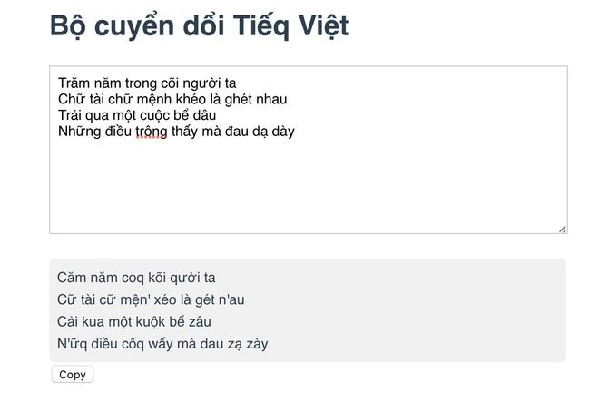 Cong cu chuyen chu Viet thanh 'Tieq Viet' kieu moi hinh anh 1