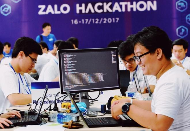 Chung ket Zalo Hackathon 2017 dang dien ra o Sai Gon hinh anh