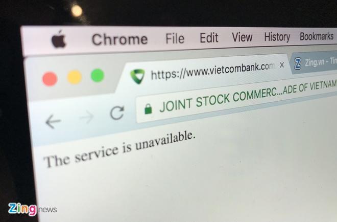 Internet Banking VCB chap chon trong ngay Bitcoin lao doc hinh anh