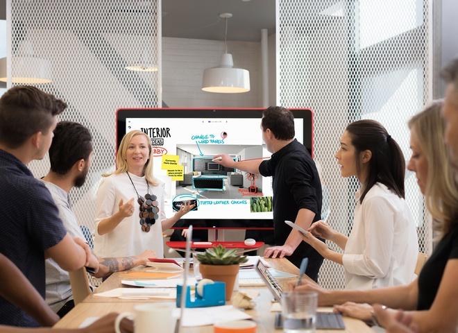 Samsung ra mat Flip - tablet 55 inch to ngang TV hinh anh 7