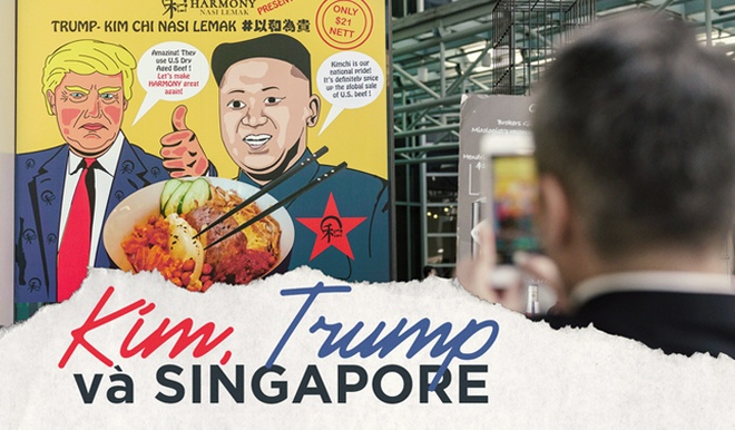 Kim - Trump va thang 6 do lua o Singapore hinh anh
