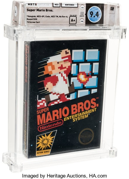 Bang game Mario cho may NES duoc ban dau gia cao ky luc anh 1