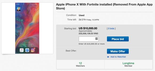 iPhone X cai eBay ban gia tren troi anh 1