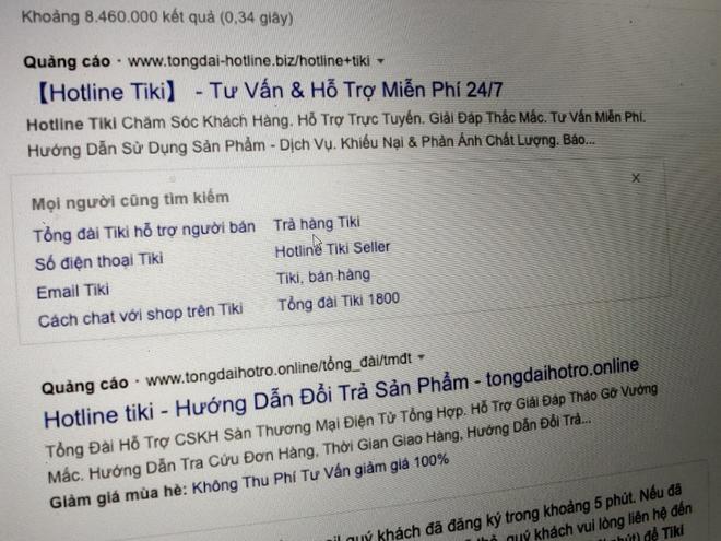 Google ban quang cao website ho tro mao danh Tiki anh 2