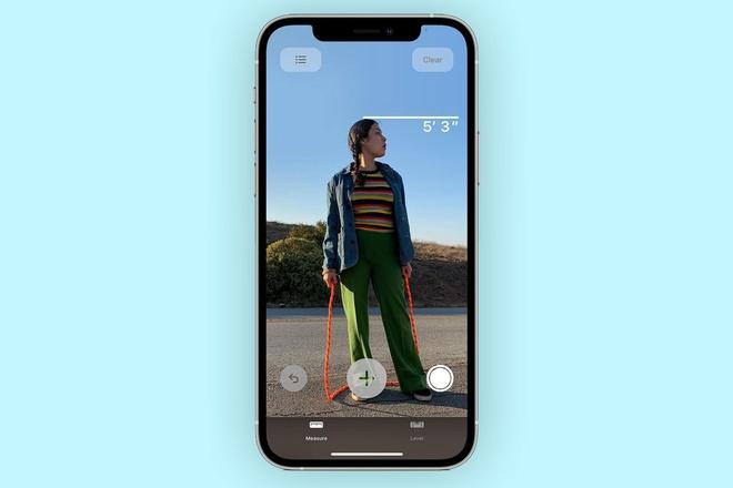 Tinh nang do chieu cao voi camera LiDAR tren iPhone 12 anh 1