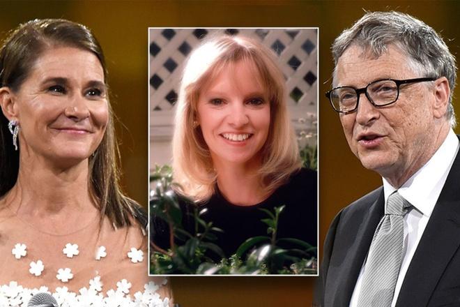 Bill Gates van di choi voi ban gai cu sau khi cuoi vo hinh anh