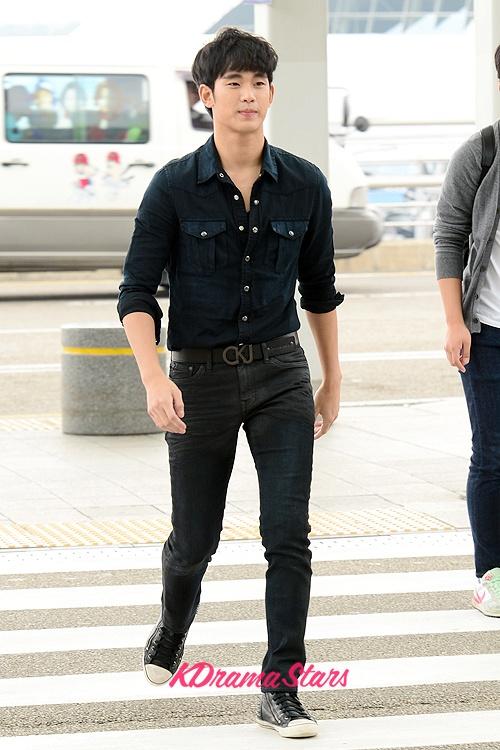 thoi trang san bay cua Kim Soo Hyun anh 2