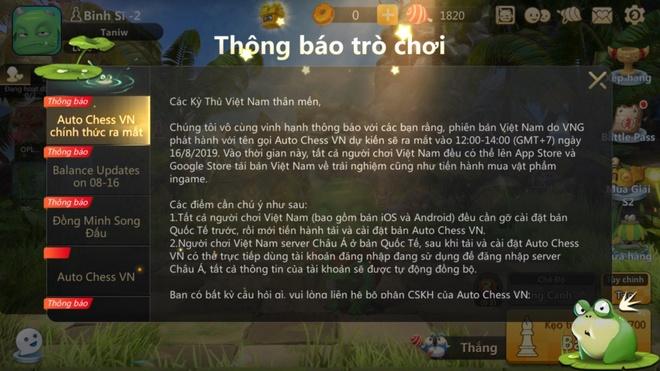 Auto Chess chinh thuc ra mat o Viet Nam nhung van giu ban quoc te hinh anh 1