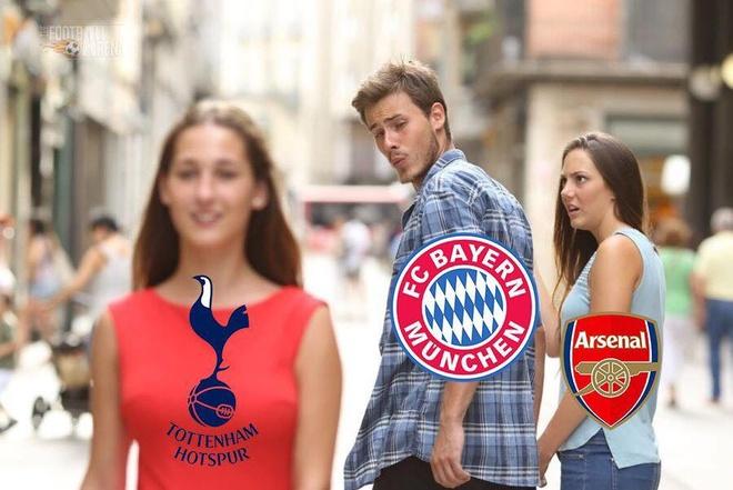 Biem hoa HLV Wenger cuoi tuoi khi Bayern vui dap Tottenham hinh anh 2