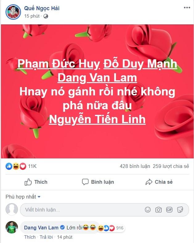 Que Ngoc Hai khen Tien Linh ganh U22 Viet Nam hinh anh 1
