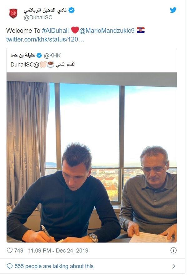 Mandzukic khuoc tu Man United de sang Qatar hinh anh 1 Screenshot_24.jpg