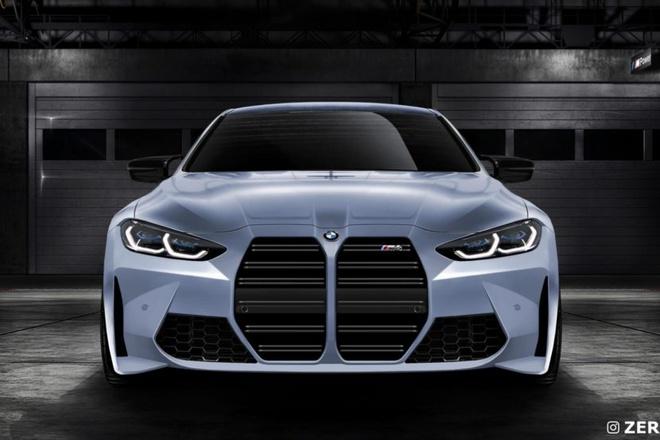 BMW M4 2021 lo dien voi luoi tan nhiet khong lo anh 1