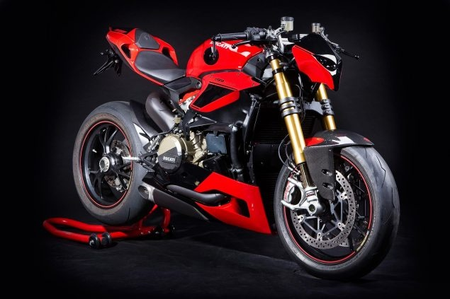 Ban dung Ducati 1199 Panigale theo phong cach streetfighter hinh anh