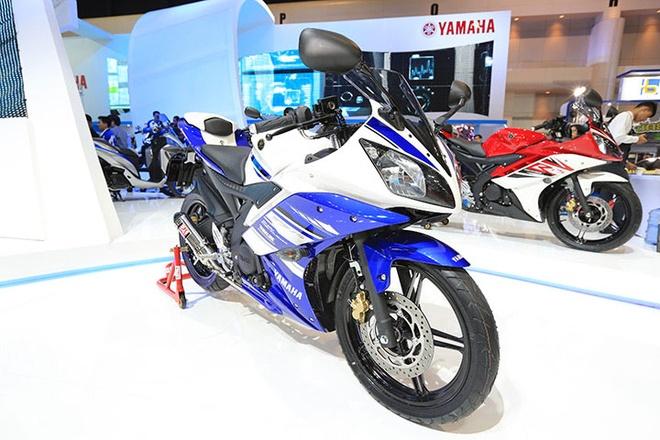Yamaha R15 tai Indonesia dung dong co giong V-Ixion hinh anh