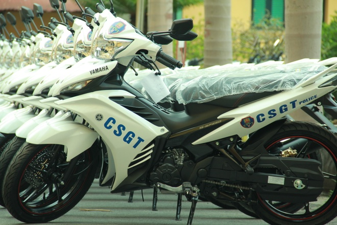 Yamaha Exciter va Sirius Fi danh rieng cho CSGT Ha Noi hinh anh