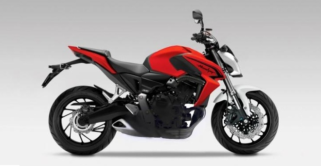 Honda chuan bi ra mat naked-bike Hornet 800 phan khoi hinh anh
