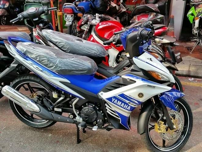 Bo 3 xe may Yamaha phien ban GP sap ban tai Viet Nam hinh anh
