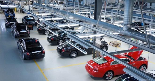 Kham pha nha may san xuat cua Rolls-Royce hinh anh 20 Khu vực để những mẫu xe hoàn thiện.