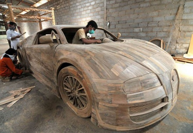Bugatti Veyron dac biet lam tu go gia 3.300 USD hinh anh 1