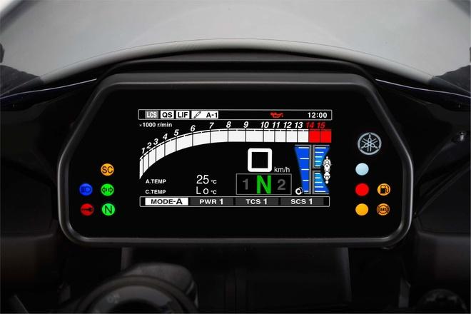 Anh chi tiet sieu mo to Yamaha YZF-R1 2015 moi ra mat hinh anh 11