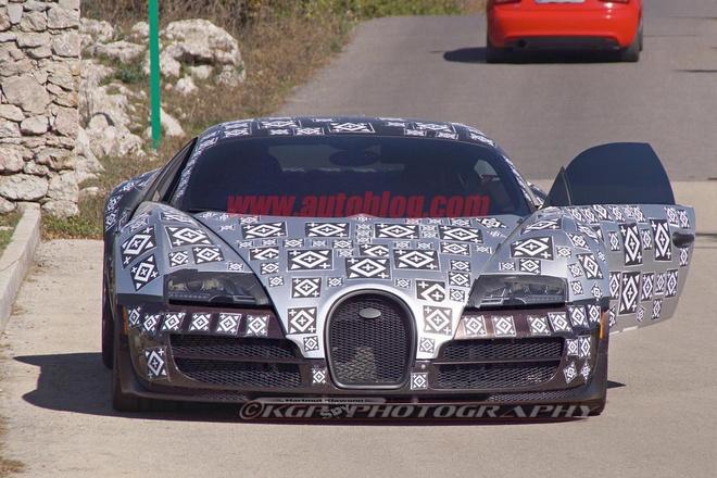 Lo dien hinh anh chay thu sieu xe Bugatti Veyron moi hinh anh