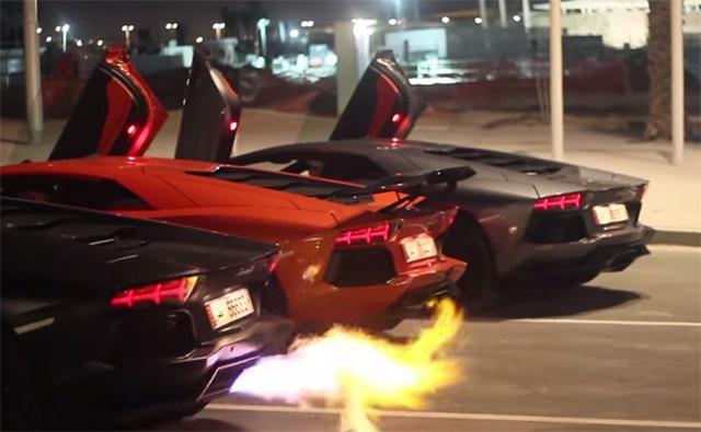 3 sieu xe Lamborghini Aventador thi tai khac lua hinh anh