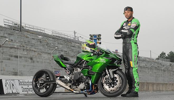 Sieu mo to Kawasaki Ninja H2R do phong cach Drag Race hinh anh