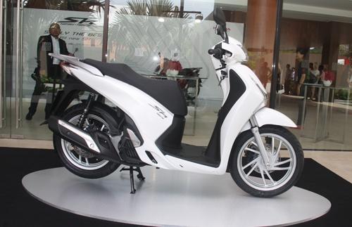Honda SH là dòng xe ga cao cấp được ưa chuộng của tại Việt Nam. Ảnh: Hân Nguyễn.