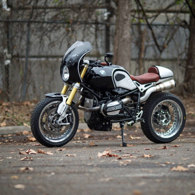 BMW R NineT do theo phong cach cafe racer hinh anh