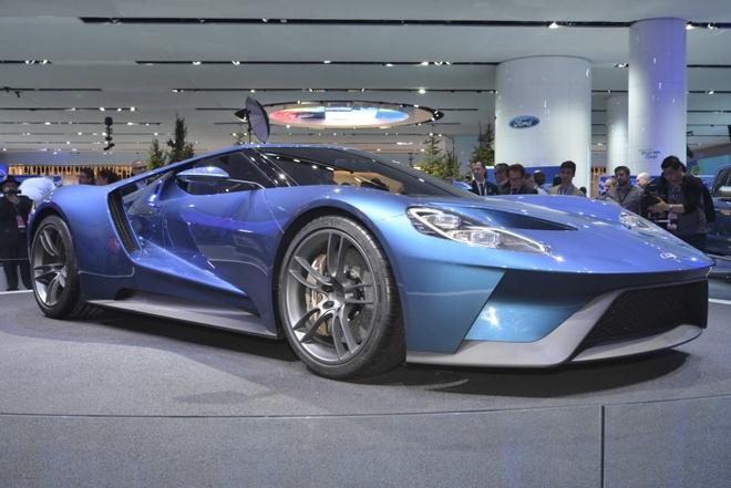 Ford GT bat mat voi dien mao hoan toan moi hinh anh 4 Cung cấp sức mạnh cho Ford GT là khối động cơ gắn giữ, Ecoboost 3,5 lít, tích hợp bộ tăng áp kép, có thể sản sinh công suất hơn 600 mã lực, dẫn động cầu sau qua hộp số 7 cấp ly hợp kép, những thông số kỹ thuật chi tiết hơn chauw được công bố.